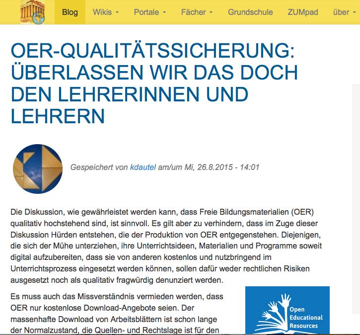 ZUM.de Archive - OERinfo – Informationsstelle OER