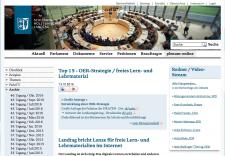Screenshot Website des Schleswig-Holsteinischen Landtags, nicht unter einer freien Lizenz