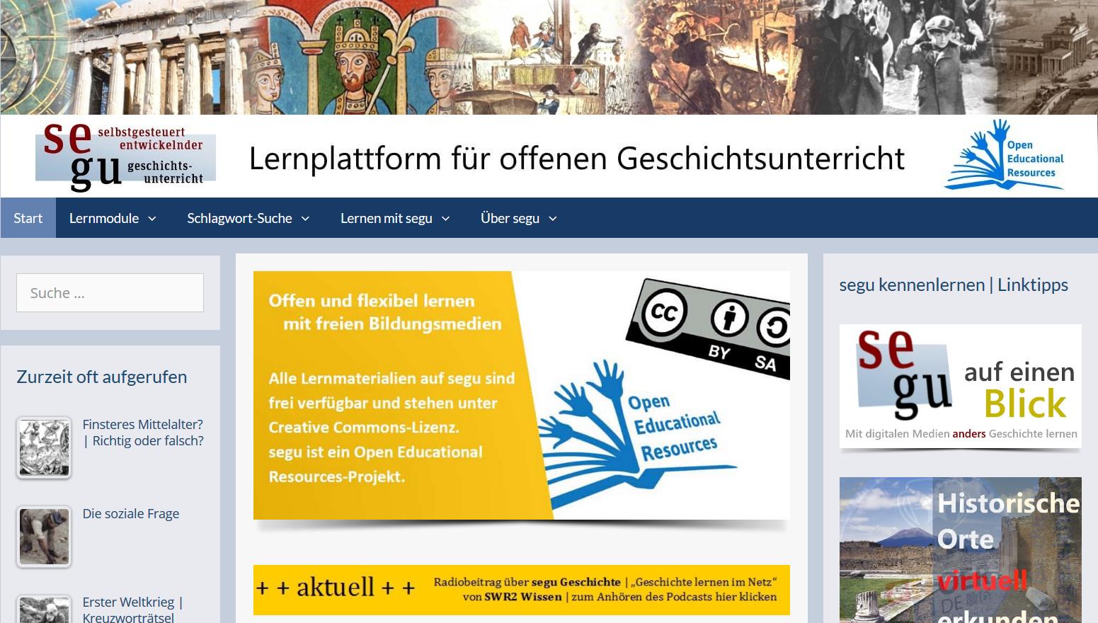 Screenshot Portal segu Geschichte