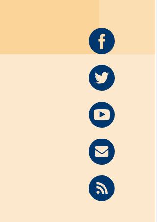Screenshot Social Media Menü OERinfo