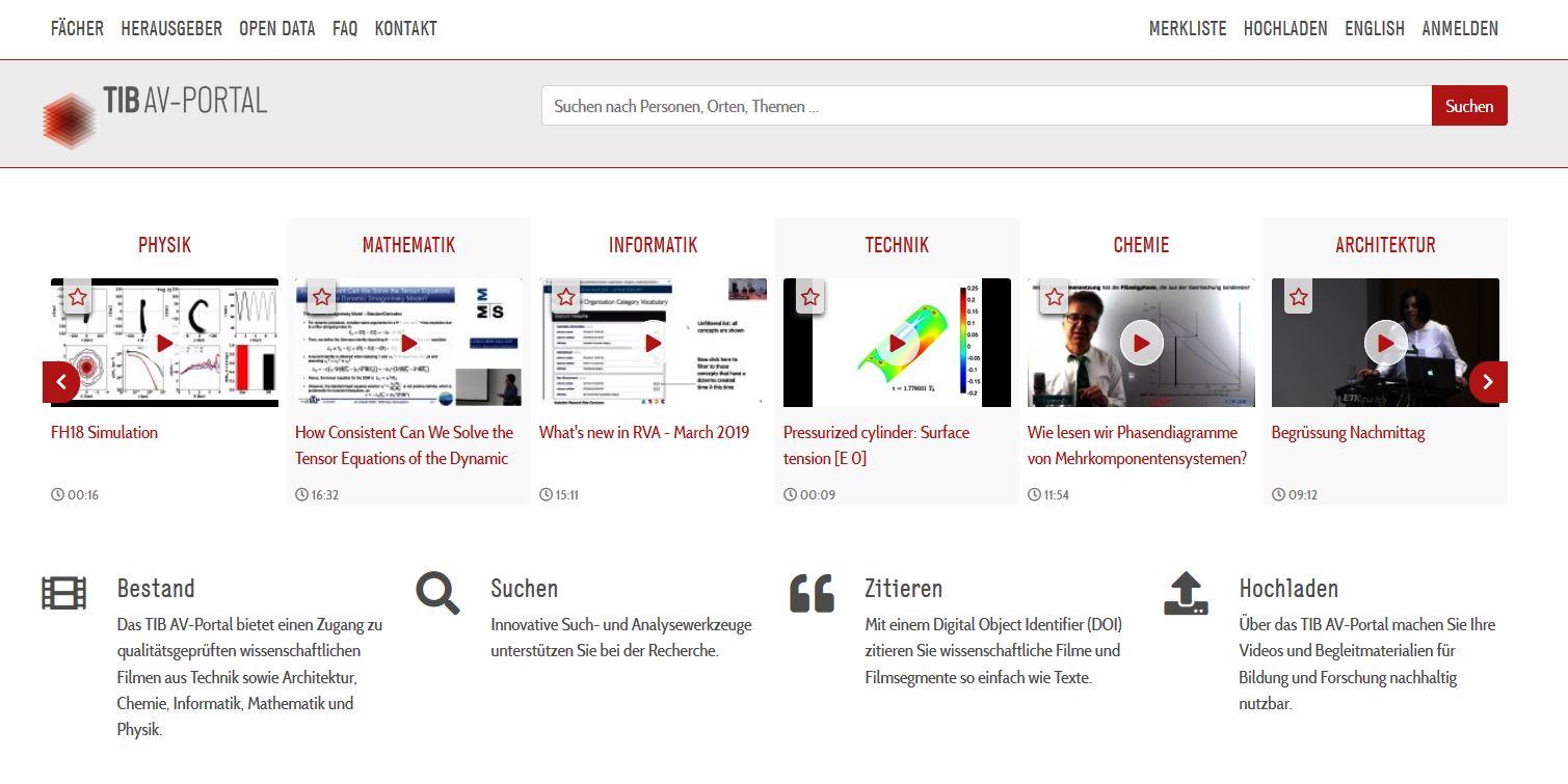 TIB AV-Portal, nicht unter freier Lizenz