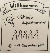Auftaktworkshop OERinfo, 12. und 13.12.2016, Grafik: Sonja Borski, CC BY 4.0